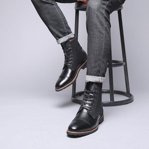 Wholesale Hot Sale Ankle Boots For Fashion Men s Color Matching Pointed British Wind Short Boots Motorcycle Best selling