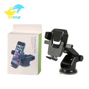 Wholesale Vitog Car Phone Holder mount Suction phone Stand adjustable Phone Holder For navigation For X Samsung LG HTC with package