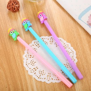 Wholesale 40 Creative Stationery Silicone Owl Modelling Neutral Pen Cute Learning Supplies Cartoon Office Signature Pen