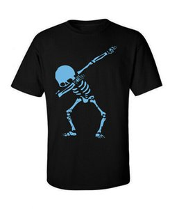 Wholesale Dancing Skeleton Skull Tees Graphic Funny Generic Novelty Unisex T Shirt Tops New Unisex Funny Tee Shirt