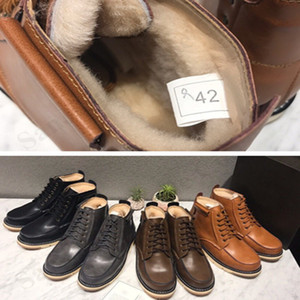 Wholesale Australia UG Snow Boots Brand Men Shoes Real Leather Martens Boots Winter Warm Thick Fleece Wool Fur Waterproof Short Work Boot Shoe C101601