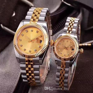 Wholesale Diamond WATCH Couples Style Classic Automatic Movement Mechanical Fashion Mens Womens Watch Stainless Steel Strap Watches on Sale