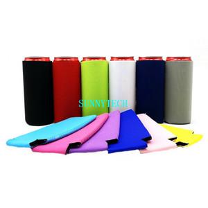 Blank Neoprene Slim Beer Can Cooler Tall Stubby Holder Foldable Stubby Holders Skinny Beer Cooler Bags For 12oz Slim Energy Drink & Beer