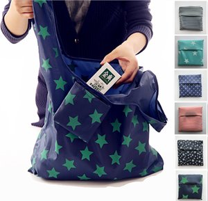 Wholesale Portable Foldable Shopping tote Bags Reusable Grocery Storage Bag Eco Friendly Thickened oxford cloth Waterproof beach bag built in a Pouch