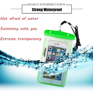Wholesale Universal For iphone s plus samsung S9 S7 Waterproof Case bag Cell Phone Water proof Dry Bag for smart phone up to inch