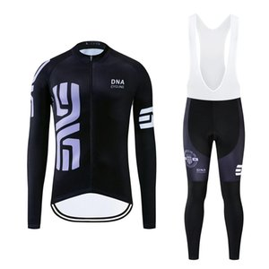 DNA Cycling 2019 Autumn PRO Cycling Jersey Sets Bicycle Clothing Suit Long Sleeves Pants 12D Gel Padded Outdoor Racing Jersey