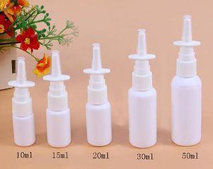 Plastic Nasal Spray Bottle with Pump Sprayer PE Spray Bottle 10ml 20ml 30ml 50ml Refillable Bottle
