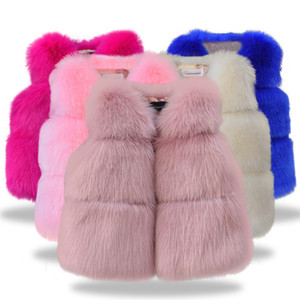 Wholesale Children fashion clothing Autumn Winter Faux fur Baby Coats for Girls Flower Jackets For Kids Clothes Top baby Girls Outwear