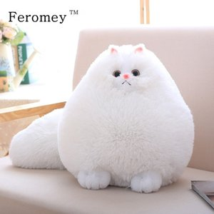 Kawaii Fluffy Cat Plush Toys Persian Cat Stuffed Dolls Soft Pillow Stuffed Animal Peluches Dolls Baby Kids Toys Christmas Gifts SH190913