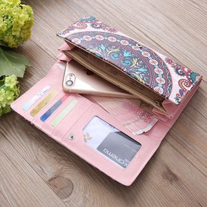 Wholesale Fashion lady print wallet pu leather large capacity wallet card package explosion wallet wholesaleExplosion models multi function color pri