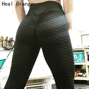 2018 New Arrivals Yoga Womens Ruched Butt Leggings Push High Waist Workout Sport Tights Running Trousers Women Gym Pants C19041702