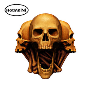 Wholesale Car Styling Skull Head Sticker Car Stickers for Helmet Gas Bumper Scooter Motorcycle Decals Car Accessories JDM cm
