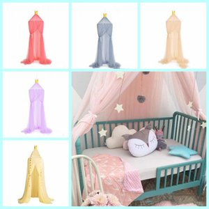 Wholesale Hung Dome Mosquito Net Baby Dome Mosquito Netting Kids Solid Bed Curtain Hanging Tent Crib Children Room Decor Hanging Kids Bedding LXL111