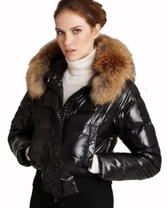 Wholesale the coat French luxury women s winter Alpin down jacket short coats fur collar hoodies down coat