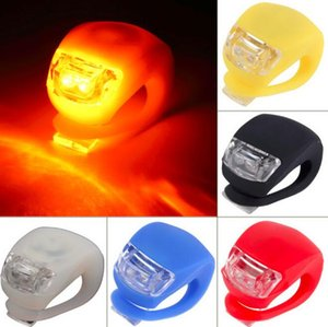 Wholesale bike light rubber for sale - Group buy Silicone Bike Lights LED Cycling Bike Bicycle Light Rubber Tail Light Front Rear Flash Warning Light Lamp Headlamp Silicone lights