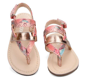 Wholesale Sandals For Girls Flat With Ankle Wrap Girls Beach Sandals Children Shoes sandalia infantil Kids PU Rubber