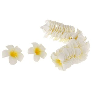 Wholesale 100 Hawaiian Frangipani Foam Flower Head Decor for Wedding Crafts Yellow cm