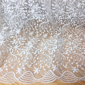 Wholesale High quality mesh Polyester wedding embroidered lace fabric diy craft fashion skirt dress clothing accessories MT73