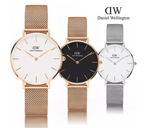 Wholesale luxury dress watch ultra thin men mm ladies mm fashion business trend couple gift waterproof quartz watch box sale