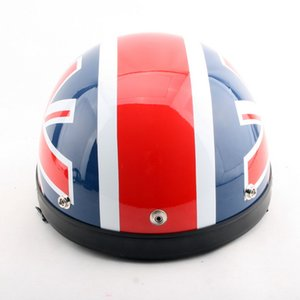 Wholesale Fashion British Union Jack British motorcycle helmet electric bicycle helmets Summer half face Harley models helmet of ABS