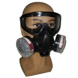 Wholesale weld mask resale online - Filter Gas Mask Half Face Filter Breathing Respirator With Anti fog Glasses Chemical Dust Mask For Painting Spray Welding