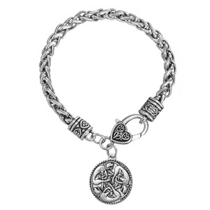 Wholesale BC014 simple round vintage Tibetan silver pendant bracelet Unicorn zinc alloy pendant bracelet Travel Memorial