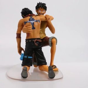 Wholesale 2pcs set Anime One Piece DRAMATIC SHOWCASE Luffy Ace th Season vol PVC Action Figure Collection Model Toys for gift