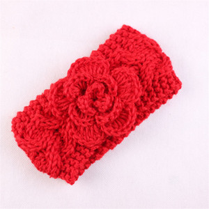 Wholesale Newborn Headband Kids hair Accessories Baby Wool Headband Infants Baby Girls Knitted Crochet headband Turban Stretch Flower Warm Hairband