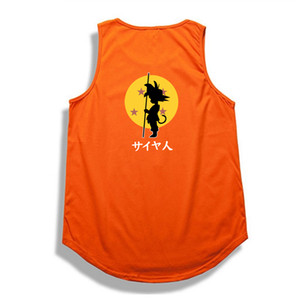 Hip Hop Dragon Ball Tank Top Summer Bodybuilding Tops Shirt Casual Cotton Dragon Ball Z Wukong Top Tank Clothes T190728