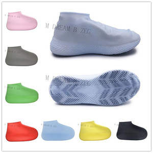 Wholesale Anti Skid Shoes Cover Silicone Waterproof Rain Shoes Boots S M L Recyclable Overshoes Shoes Cover For Beach Raining Use