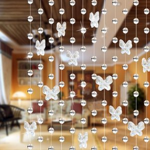 Drop shipping 1 meters glass crystal beads curtain Butterfly Water droplets Shaped Wedding Curtain Bead Decor Pendant
