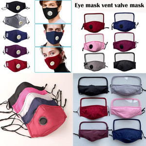 In Stock 2 in 1 Reusable Unisex Cotton Face Masks With Breath Valve PM2.5 Mouth Mask Anti-Dust Cotton Fabric Mask Washable Mask With Filter
