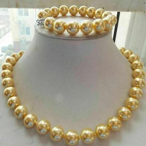 Wholesale buy gold china resale online - Best Buy New pearls jewelry mm golden shell Pearl quot Necklace quot Bracelet k