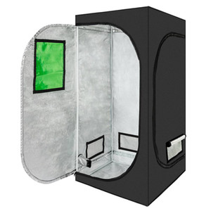 80 x 80 x 160cm Home Use Dismountable Hydroponic Plant Growing Tent with Window Green Black on Sale