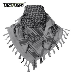 Wholesale TACVASEN Men Military Scarf Tactical Desert Arab Keffiyeh Scarf Camouflage Head Scarf Women Arabic Cotton Paintball Face Mask C19011001
