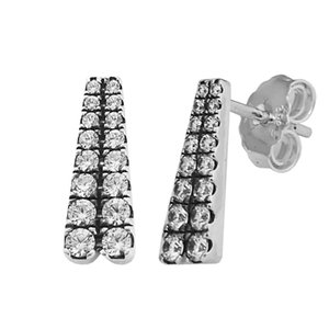 Wholesale shooting stars resale online - S925 silver fits for DIY style jewelry Shooting Stars Stud Earrings CZ H8