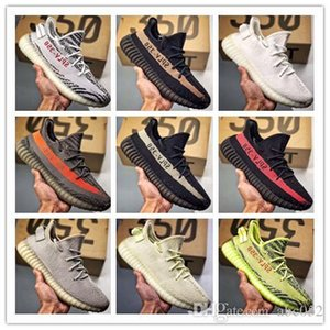 [With Box] New Clay 350 V2 Static Zebra Tint Beluga Bred Butter Cream Sesame Semi Frozen Yellow BASF Mens Running Shoes Womens Sneaker