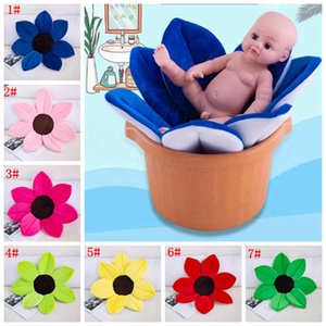 Wholesale Bath Mats Foldable Sunflower Newborn Safety Baby Flower Non Slip Pad Seat Bathtub Chair Home Decoration Cushion Kids Plush Toy FFA3681