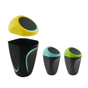 Lovely Creative Mini Auto Push Trash Can Holder Egg Style Rubbish Bin Storage Box Car Accessories Household