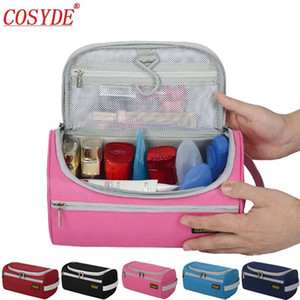 Wholesale Polyester Travel Makeup Bag Organizer Portable Women Hanging Toiletry Bag For Mens Zipper Male Wash Kit Makeup Pouch Waterproof