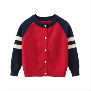 Wholesale New Children s Top Clothes Brand Cotton Baby Sweater High Quality Kids Outerwear Girl Sweater Boy Sweater V neck Polo Sweaters