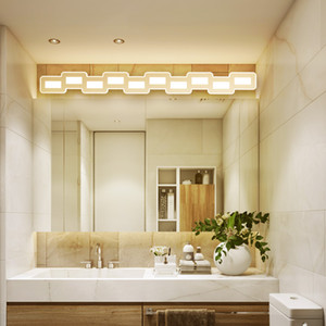 Wholesale Nordic led mirror light mm Hardware acrylic bathroom lamp bedroom cosmestic lighting hotel foyer led bathroom sconce