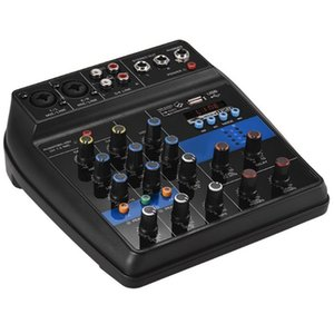 Portable Bluetooth A4 Sound Mixing Console Audio Mixer Record 48V Phantom Power Effects 4 Channels Audio Mixer With Usb(Eu Plu on Sale