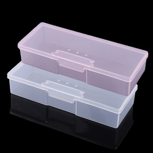 Wholesale file boxes resale online - Plastic Transparent Nail Manicure Tools Storage Box Nail Dotting Drawing Pens Buffer Grinding Files Organizer Case Container Box