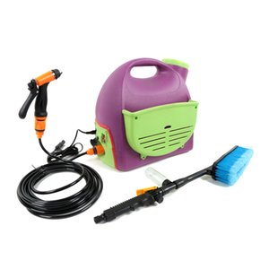 12V Electric Car Washer Set Portable Home Cleaning Machine Large Capacity Water Sprayer Cleaning Brush Dual Use Auto Wash Tool