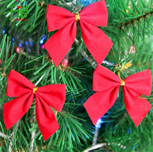 Wholesale christmas tree wreath for sale - Group buy Christmas Supplies Red Bow Eco Friendly Cloth Festival Decorate Trumpet Gift Christmas Tree Ornament Christmas Rattan Wreath sj k1