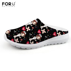 Wholesale shoes for nurses resale online - FORUDESIGNS Nursing Shoes for Women Summer Slippers Casual Beach Shoes Ladies Lightweight Flip Flop Girls Home Footwear