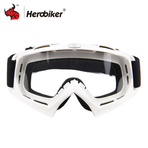 Wholesale glasses motocross HEROBIKE Motorcycle Off Road Racing Goggles Winter Skate Sled ATV Eyewear Motocross DH MTB Glasses Single Lens Clears