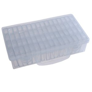 Wholesale Portable Lattice Bead Storage Box High Quality Practical Nail Beads Transparent Plastic Case Hot Sale jt Ww