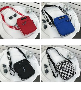 Wholesale Sup letter Designer Crossbody Bag Men Women Mini Shoulder Bag Canvas Messenger School Bags Fashion Brand Travel Chest bag Purse C6604